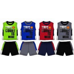 48 Bulk Spring Boys Close Mesh Short Sets Size 8-16