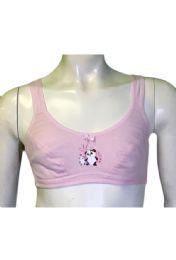 36 Bulk Sweet Girls Training Bra Assorted Colors Size 32