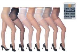 1392 Bulk Ultra Sheer Pantyhose In Assorted Colors