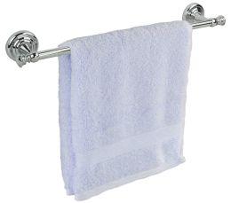 12 Bulk Home Basics Chrome Plated Steel WalL-Mounted Towel Rail