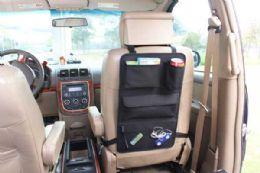 6 Bulk Home Basics Back Seat Car Organizer, Black