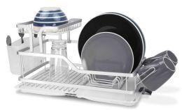 6 Bulk Home Basics 2-Tier Aluminum Dish Rack