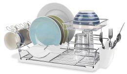 6 Bulk Home Basics 2-Tier Dish Drainer