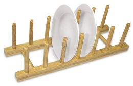 12 Bulk Home Basics Foldable Bamboo Dish Rack