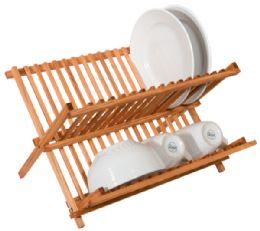 12 Bulk Home Basics Rustic Collection Pine Folding Dish Rack