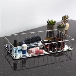 6 Bulk Home Basics Unity Mirrored Vanity Tray, Silver