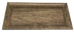 12 Bulk Home Basics Plastic Vanity Tray, Wood