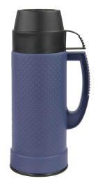 12 Bulk Home Basics .75 Liter Plastic And Glass Insulated Travel Mug, Blue