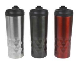 12 Bulk Home Basics Prism Stainless Steel 18 Oz. Travel Mug