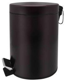 6 Bulk Home Basics 5 Liter Round Waste Bin, Bronze