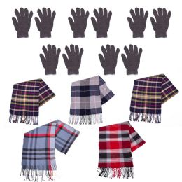 96 Bulk Winter Gloves And Bulk Scarves Combo Pack
