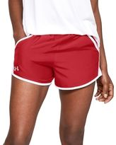 36 Bulk Women's Russell Athletic Active Shorts In True Red And White,size Large