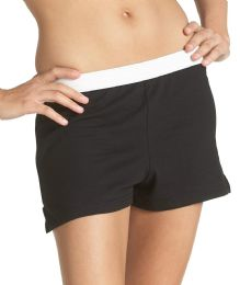 36 Bulk Women's Russell Athletic Cheer Shorts In Black, Size X-Large