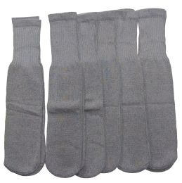 180 Bulk Women Solid Grey Tube Sock Size 9-11