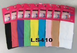 120 Bulk Womens Trouser Socks Size 9-11 Nylon Stretch Knee Socks, Yellow