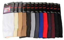 120 Bulk Womens Trouser Socks Size 9-11 Nylon Stretch Knee Socks, Blue