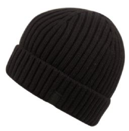 12 Bulk Wool Blend Ivy Cap And Scarf Set Black Only
