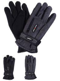 24 Bulk Yacht & Smith Men's Winter Warm Ski Gloves, Fleece Lined With Zipper Pocket