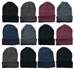 240 Bulk Yacht & Smith Assorted Unisex Winter Warm Beanie Hats, Cold Resistant Winter Hat Bulk Buy