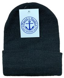 144 Bulk Yacht & Smith Black Unisex Winter Warm Beanie Hats, Cold Resistant Winter Hat Bulk Buy