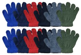 240 Bulk Yacht & Smith Kids Warm Winter Colorful Magic Stretch Gloves Ages 2-5 240 Pairs Bulk Buy