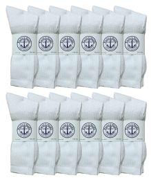 12000 Bulk Socksinbulk Men's Cotton Crew Socks White Size 10-13