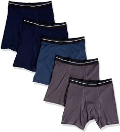 24 Bulk Yacht & Smith Mens 100% Cotton Boxer Brief Assorted Colors Size Large