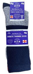 60 Bulk Yacht & Smith Mens King Size Thermal Ring Spun Non Binding Top Cotton Diabetic Socks With Smooth Toe Seem
