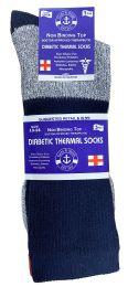 36 Bulk Yacht & Smith Mens Thermal Ring Spun Non Binding Top Cotton Diabetic Socks With Smooth Toe Seem