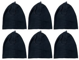240 Bulk Yacht & Smith Unisex Multi Functional Fleece Beanie Face Cover And Scarf , Solid Black