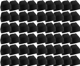 180 Bulk Yacht & Smith Unisex Winter Warm Beanie Hats In Solid Black
