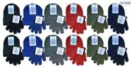 24 Bulk Yacht & Smith Wholesale Kids Beanie And Glove Sets (beanie Glove Set, 24)