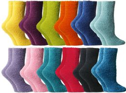 24 Bulk Yacht & Smith Butter Soft Womens Cozy Fuzzy Socks, Sock Size 9-11