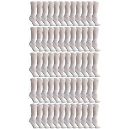 60 Bulk Yacht & Smith Women's Cotton Diabetic NoN-Binding Crew Socks - Size 9-11 White