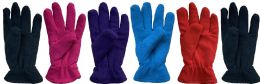 144 Bulk Yacht & Smith Women's Double Layer Heavy Fleece Gloves Bulk Buy
