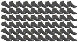 120 Bulk Yacht & Smith Women's Light Weight No Show Loafer Ankle Socks Solid Gray