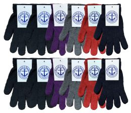 72 Bulk Yacht & Smith Women's Warm And Stretchy Winter Magic Gloves Bulk Pack