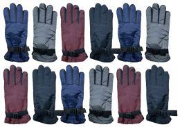 12 Bulk Yacht & Smith Women's Winter Warm Waterproof Ski Gloves, One Size Fits All