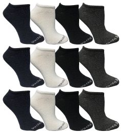 480 Bulk Yacht & Smith Womens 97% Cotton Low Cut No Show Loafer Socks Size 9-11 Solid Assorted Bulk Buy