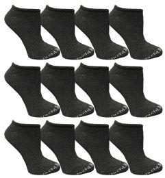 480 Bulk Yacht & Smith Womens 97% Cotton Low Cut No Show Loafer Socks Size 9-11 Solid Gray Bulk Buy