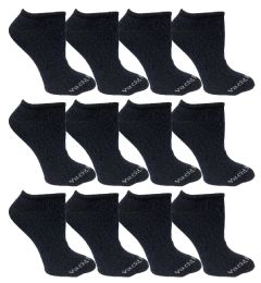 480 Bulk Yacht & Smith Womens Cotton Low Cut No Show Loafer Socks Size 9-11 Solid Navy Bulk Buy