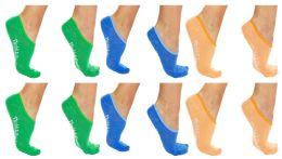 60 Bulk Yacht & Smith Womens Cotton No Show Loafer Socks With Anti Slip Silicone Strip