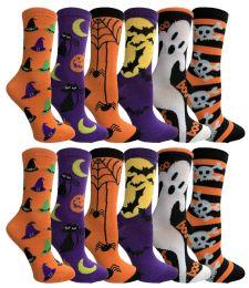 60 Bulk Yacht & Smith Womens Halloween Crew Socks