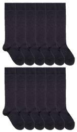 120 Bulk Yacht & Smith Womens Knee High Socks, Size 9-11 Solid Navy