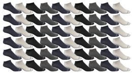 120 Bulk Yacht & Smith Womens Light Weight No Show Ankle Socks Solid Assorted 4 Colors