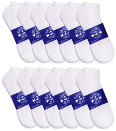 12 Bulk Yacht & Smith Womens White Lightweight Cotton No Show Socks, Sock Size 9-11